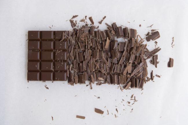 tablette de chocolat hachée menu